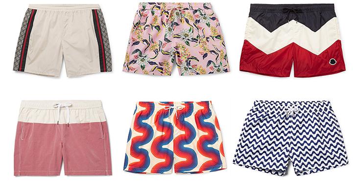 10ac08fb91 Onia Charles swim shorts, $175. Dries Van Noten printed swim shorts, $250.  Frescobol Carioca Copacabana swim shorts, $220.
